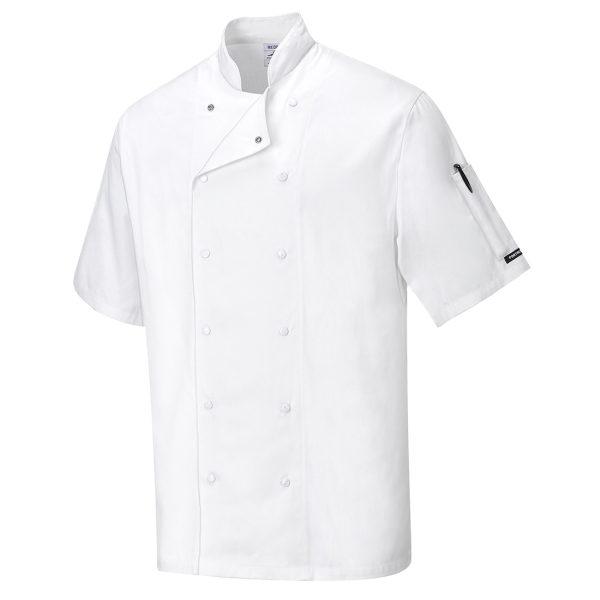 Kitel kucharski z krótkim rękawem